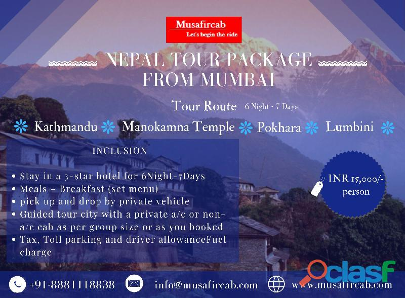 Mumbai to nepal tour packages