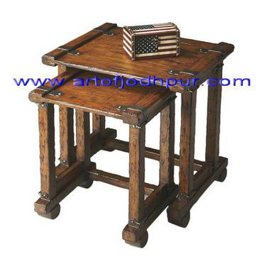 Hand crafted nesting tables furniture online