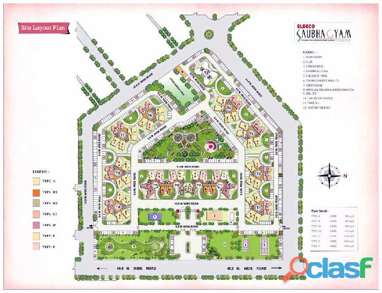 ELDECO Saubhagyam – Luxury 3BHK+Store at Vrindavan Yojna Lucknow 4