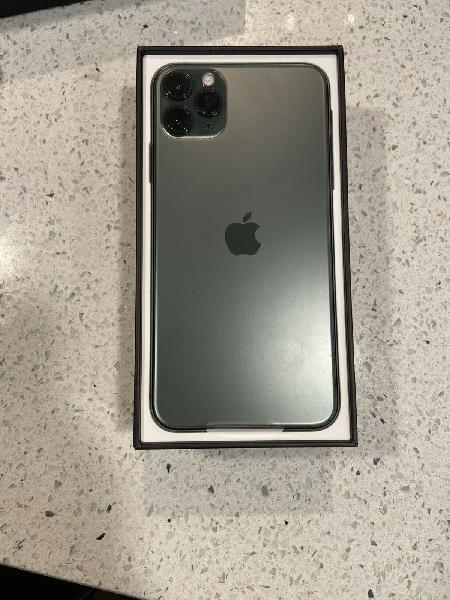 Apple iphone 11 pro max midnight green edition with bill