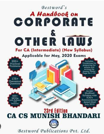 CA inter Corporate and other Laws Munish Bhandari for May