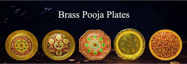High quality brass pooja thali online purchase at lower