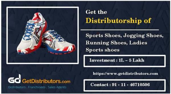 Get the Distributorship of Sports Shoes, Jogging Shoes in