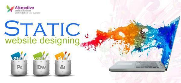 Static web design in Delhi - creative services