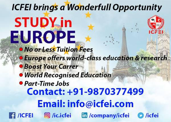 Study In Europe | Europe Overseas Education | Study Abroad -
