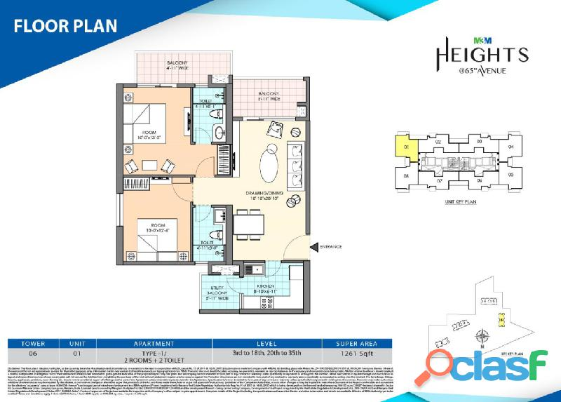 M3m duo high – book your 2bed premium flats