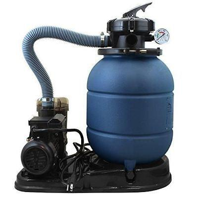 "13"" Sand Filter Pump for In or Above Ground Swimming Pool"