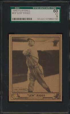 1940 Play Ball #78 Lew Riggs SGC 60 EX 5 55236