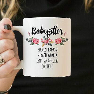 Babysitter Gift Babysitter Appreciation Mug Babysitter
