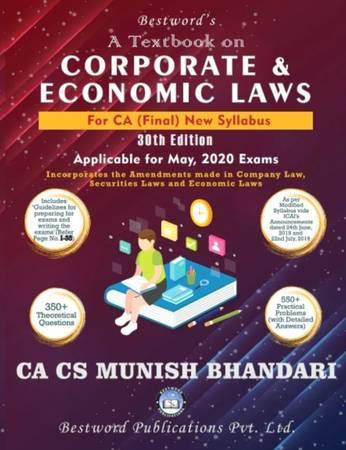 CA Final Munish Bhandari May 2020 Corporate and Economic