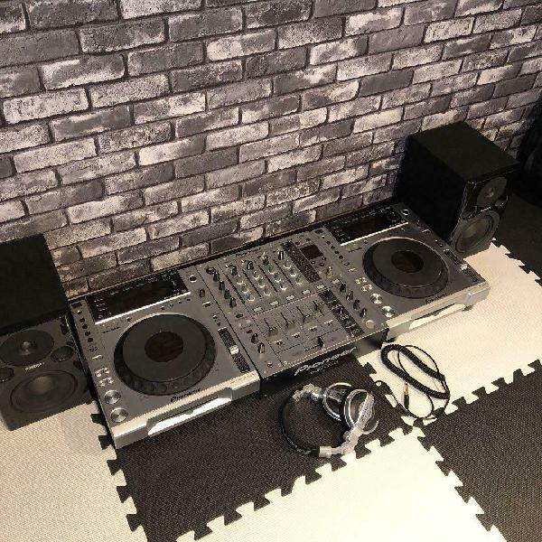 Dj equipment set pioneer cdj850 djm700 hdj1000
