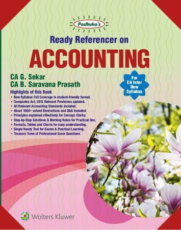 Padhuka CA Inter Accounting by CA G Sekar and B Saravana