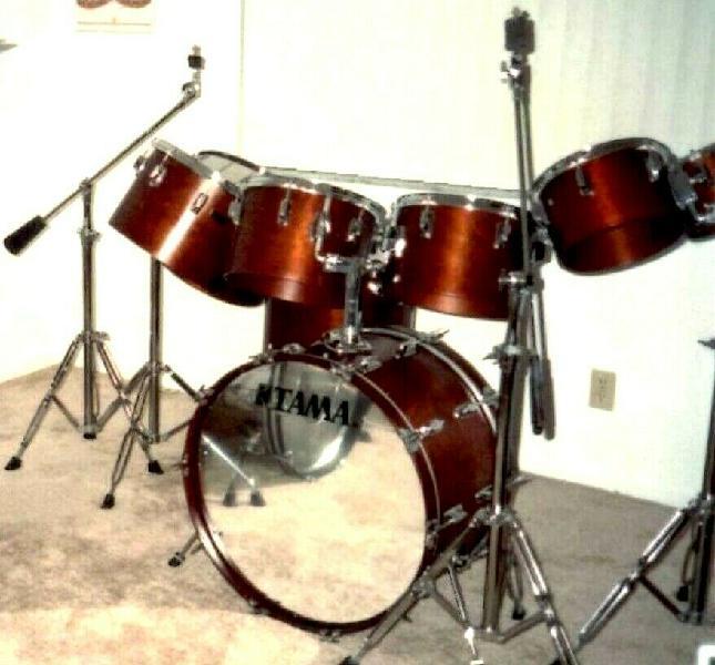 Tama superstar 8 piece drum set rare 70s vintage