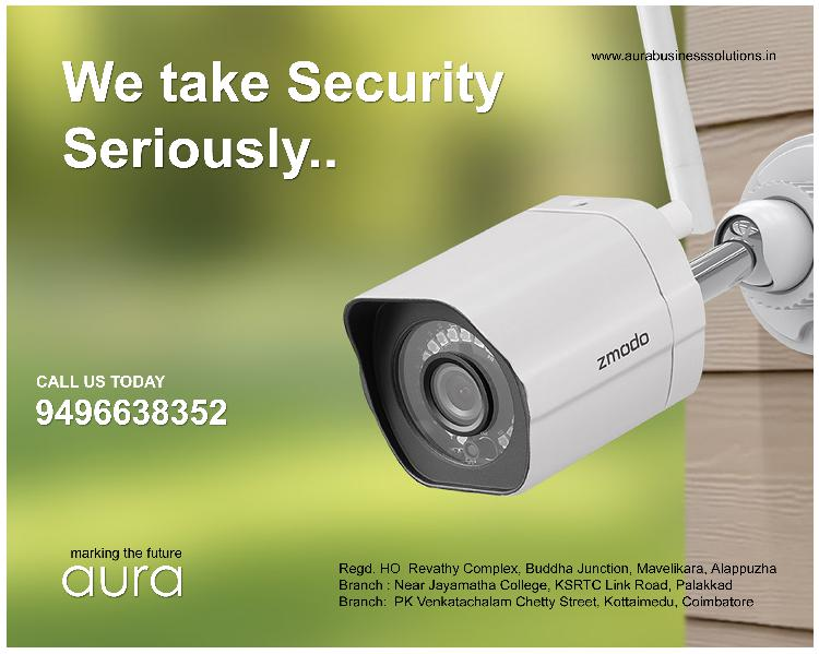 Cctv camera installation service in kayamkulam aura business