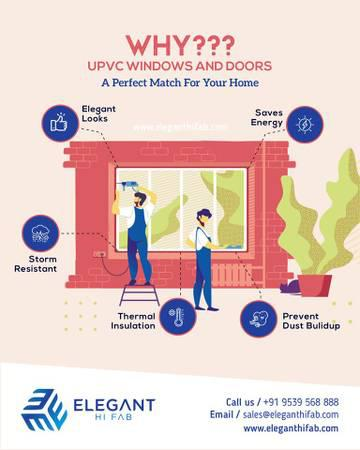 uPVC windows and doors suppliers in Cochin Kerala |Elegant