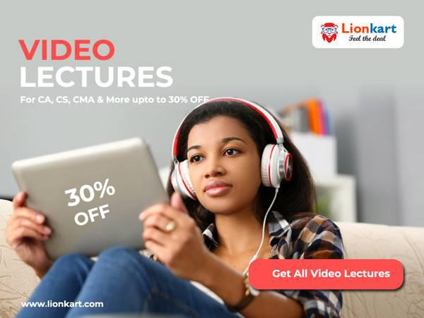 Video Lectures for CA, CS, CMA and more upto 30% OFF - books