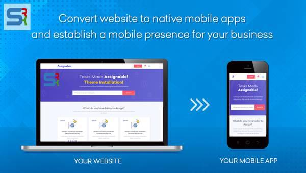 Convert your website into a mobile application - computer