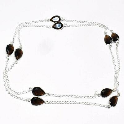 Bohemian smokey topaz gemstone 925 silver jewelry
