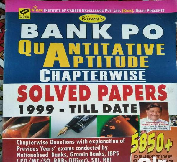 Kiran's bank po quantitive aptitude (kiran publication) for