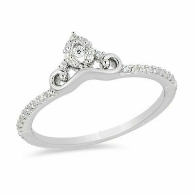 Enchanted disney 1/10ct diamond carriage cinderella ring