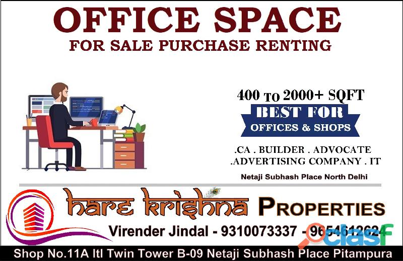 Top real estate agency in netaji subhash place pitampura for office space