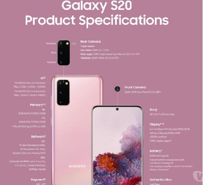 Samsung galaxy s20 pre booking