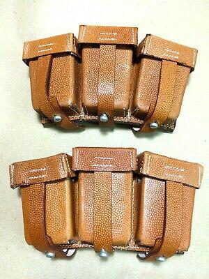 "Wwii german k98 triple ammo pouch set (repro) ""marked"" -"