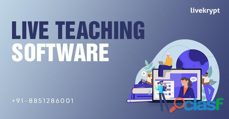 High Quality Live Teaching Software at Livekrypt