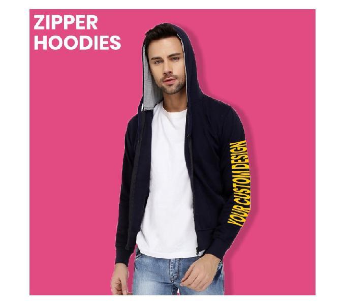 Printed Zipper Hoodies