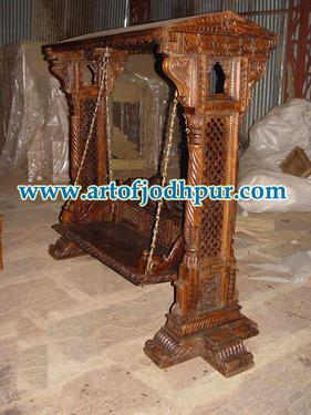 Wood furniture online jhula swing