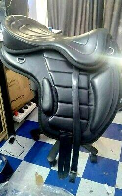 All purpose leather synthetic freemax saddle with girth