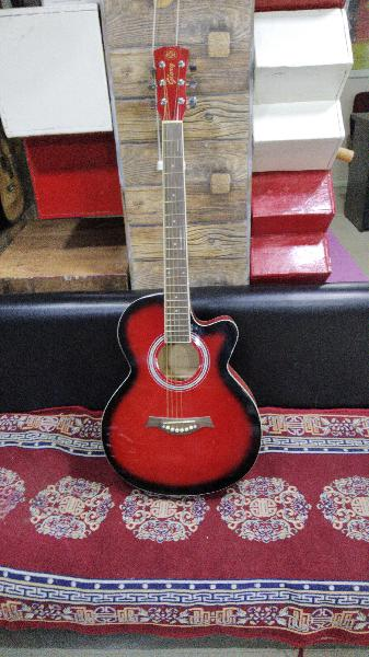 J d acoustic guitar in red colour