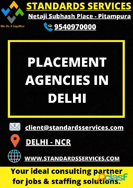 Placement Agencies in Delhi with Standards Services