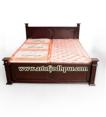 India Furniture Storage Double Beds