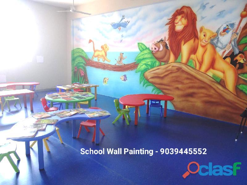 School painting works in aurangabad