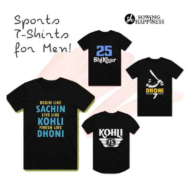 New deals over sports tshirts for men sowing happiness