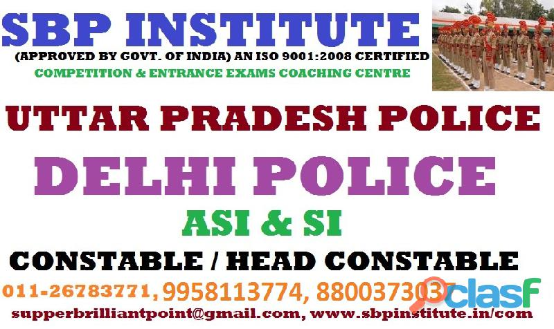 Delhi Police coaching in Delhi, best coaching for sub inspector in,
