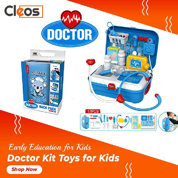 Kids doctor kit 17 pcs blue cleos