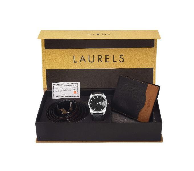 Laurels men's wallet and watch combo pack