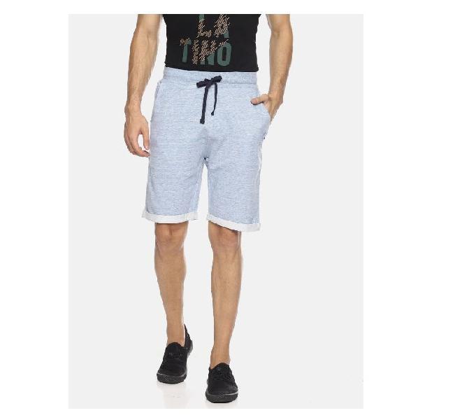 Masculino latino men turquoise blue regular fit shorts