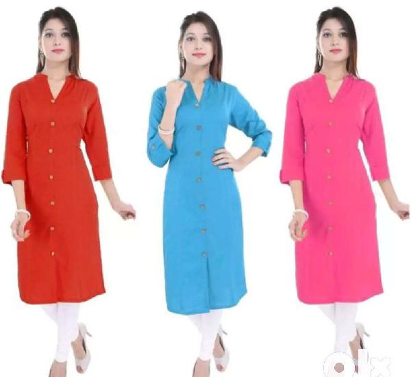 """New"""" ; """"ladies solid colored kurtis combo vol - 6"""""""