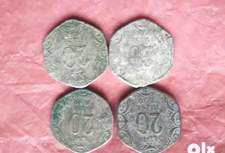 Old.coin.20..paise aluminum.