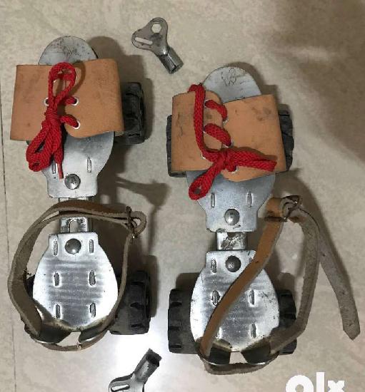 Used adjustable roller skates.