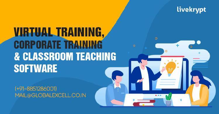 Virtual corporate training classroom teaching software