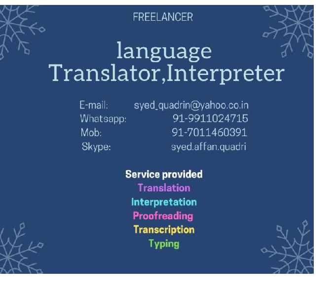 Translation Typing Proofreading Designing localization