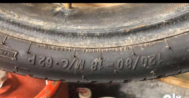 Mrf 120/80/18 bullet back tyre