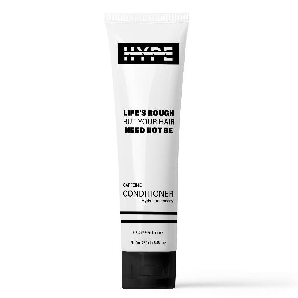 Hype body caffeine hair conditioner for men with argan oil