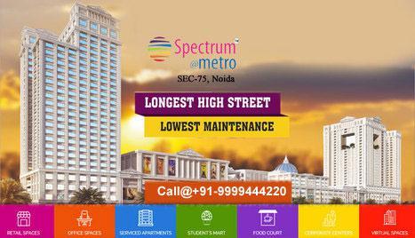 Spectrum metro noida retail shops shops for sale spectrum