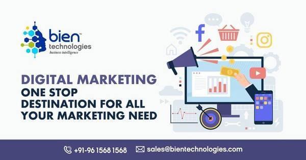 Digital marketing services at bien technologies - computer