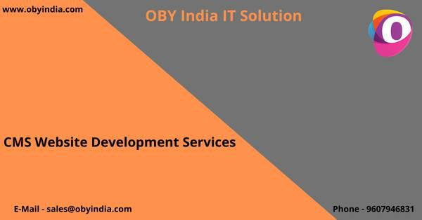 Cms website development company in pune oby- india it